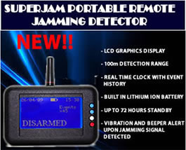 superjam portable remote jamming detector
