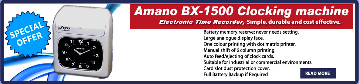 Amano BX-1500 Clocking machine