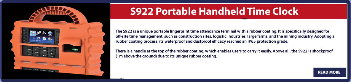 S922 Portable Handheld Time Clock