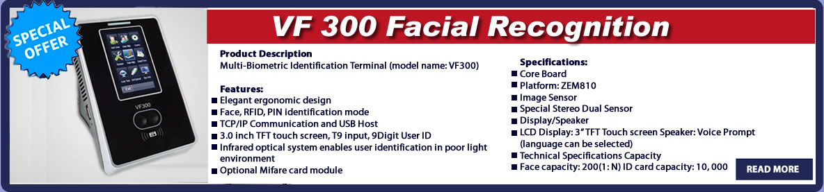 vf300 facial recognition